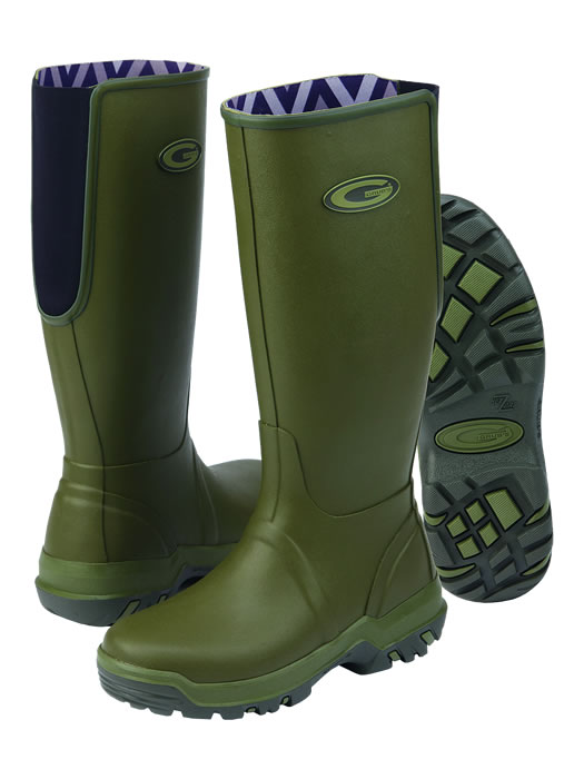 Grubs Rainline Green Wellingtons