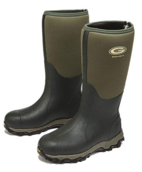 Grubs Snowline Green Wellingtons