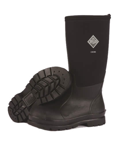 Muck Boot Chore Hi Black Wellingtons