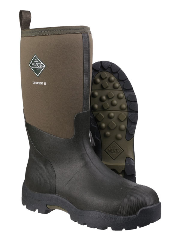 Muck Boot Derwent II Moss Green Wellingtons