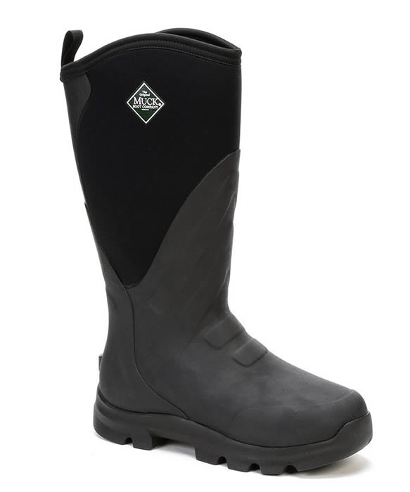 Muck Boot Grit Black Wellingtons