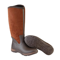 Chocolate And Bison Muck Boot Arctic Adventure Suede Zip Wellingtons